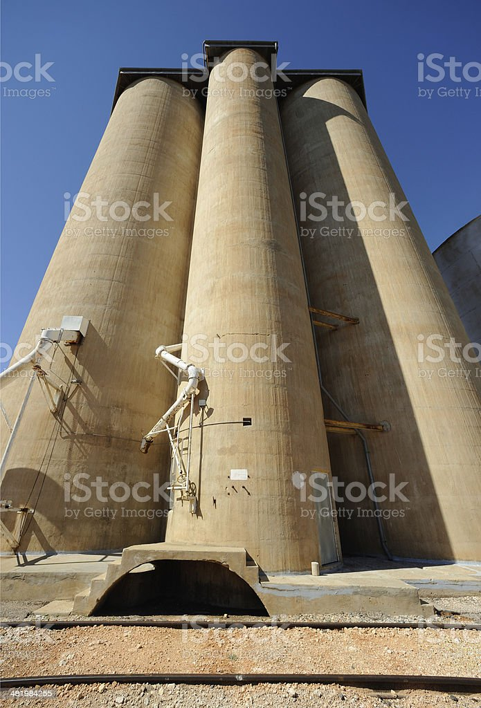 Grain Silos in Australia stock photo