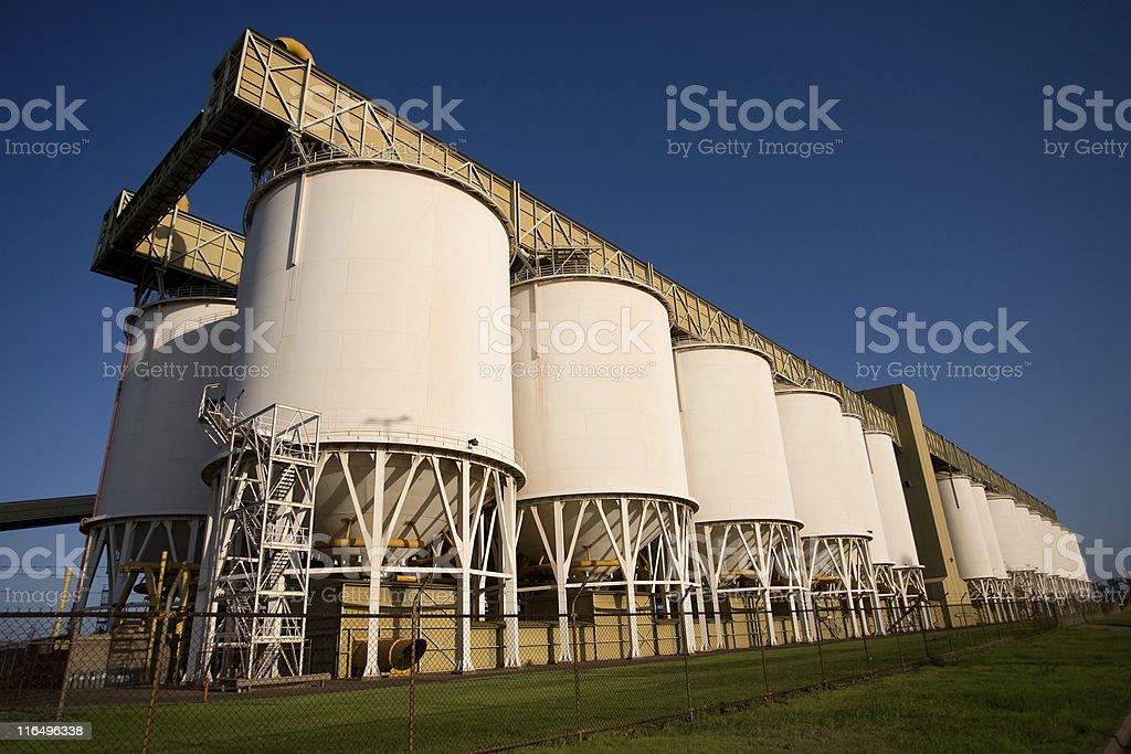 Grain silos royalty-free stock photo