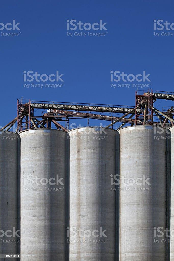 Grain Silos-Concrete stock photo