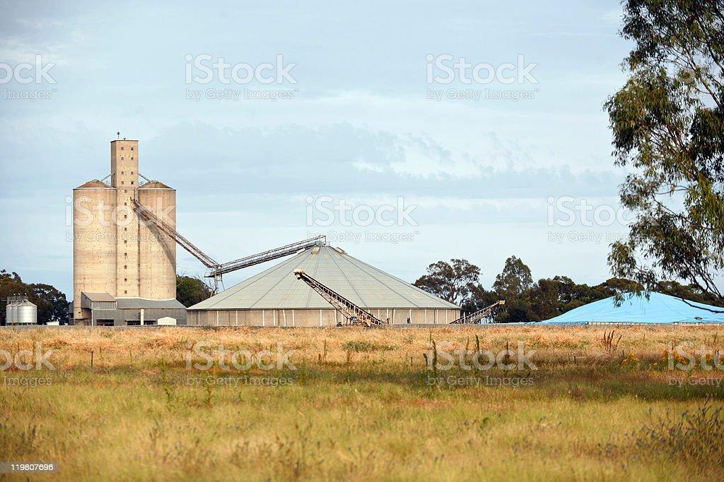 Grain Storage silos stock photo