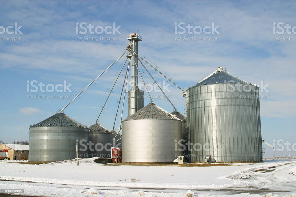 Grain Storage System royalty-free stock photo