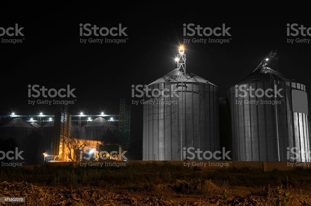 Grain Storage Tank royalty-free stock photo