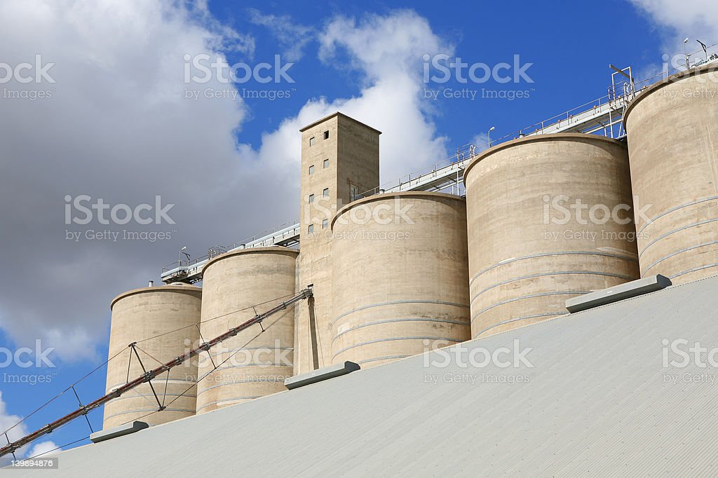 Grain Store royalty-free stock photo