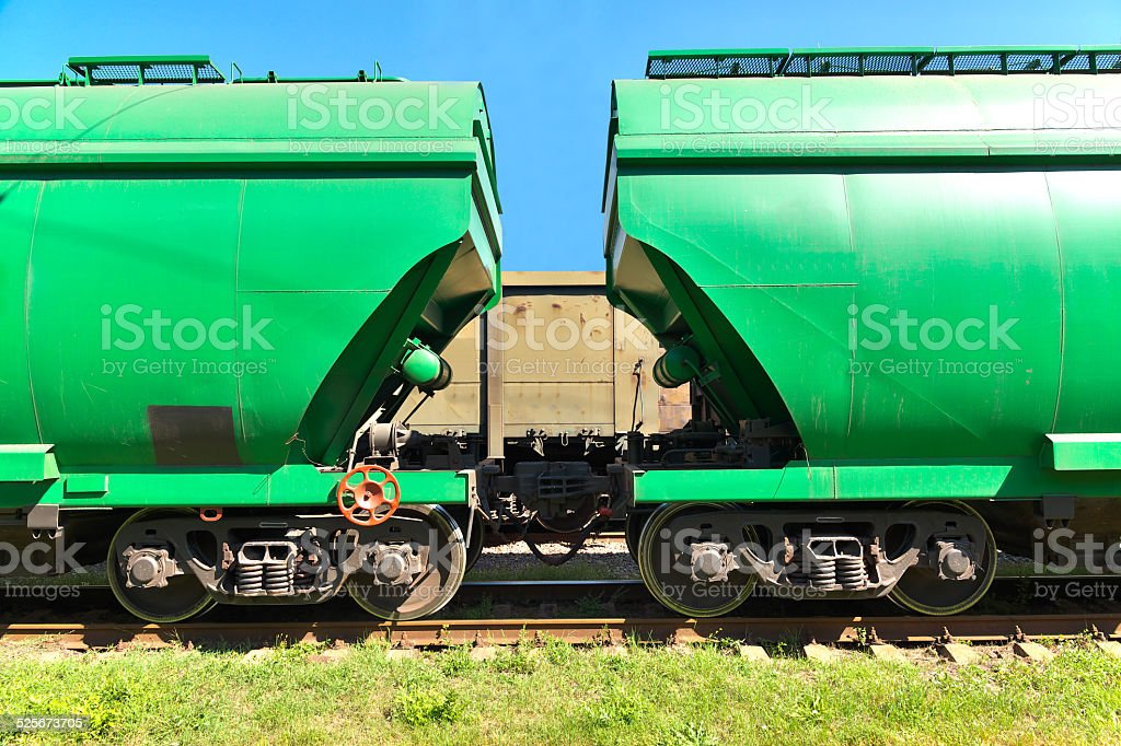 Grain transportation stock photo