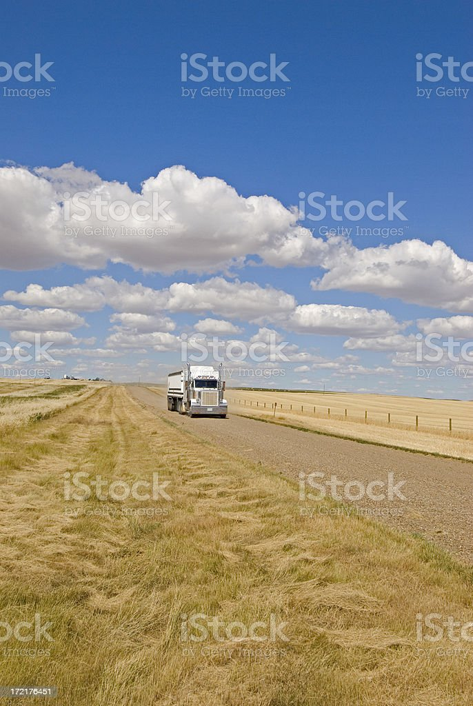 Grain truck royalty-free stock photo
