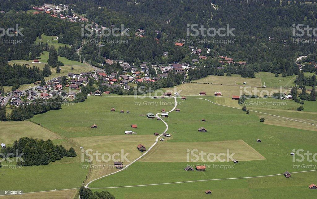 Grainau im Werdenfelser Land in Bayern/Deutschland royalty-free stock photo