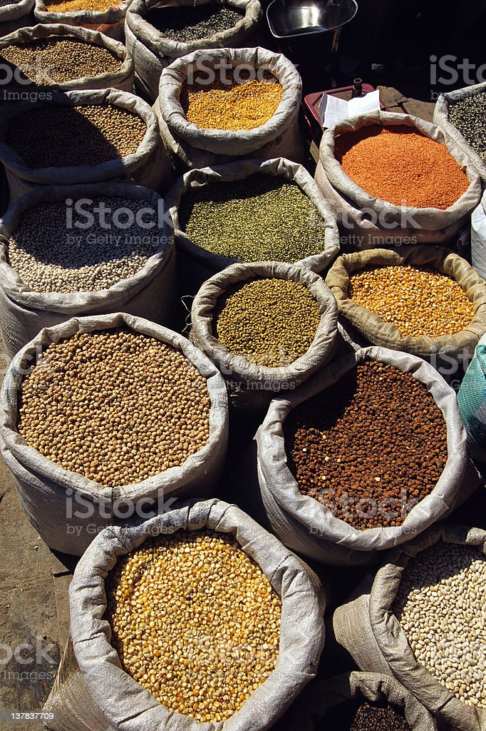 Grains and pulses royalty-free stock photo