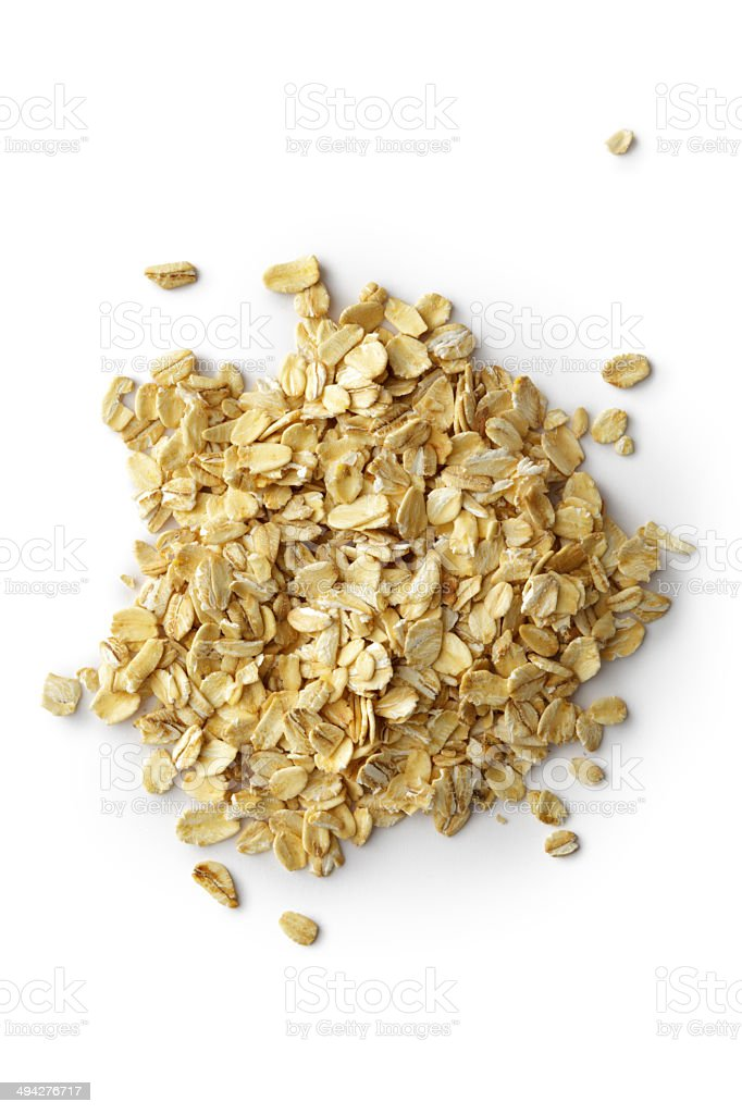 Grains: Oat Flakes stock photo