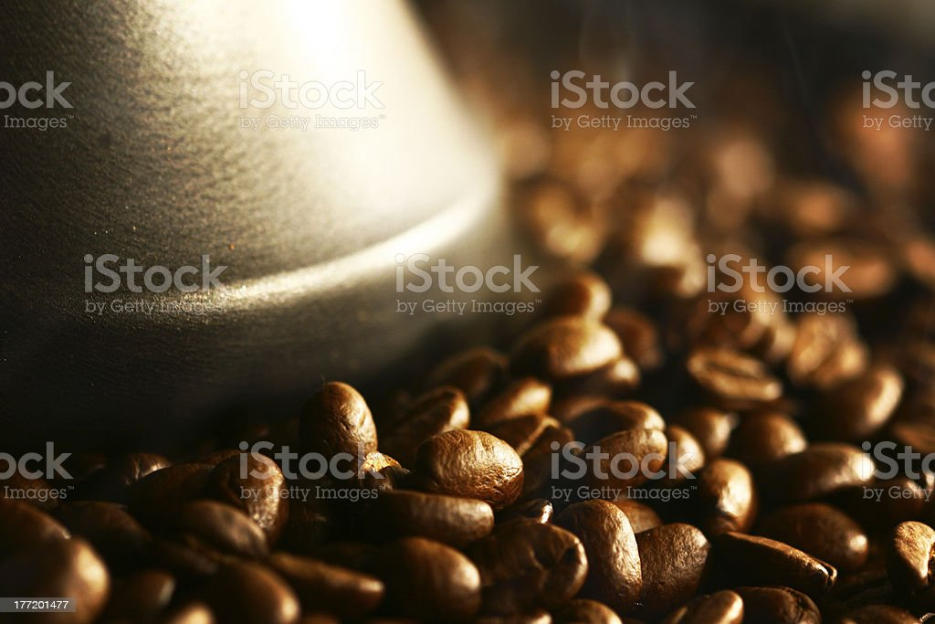 Grains of coffee royalty-free stock photo