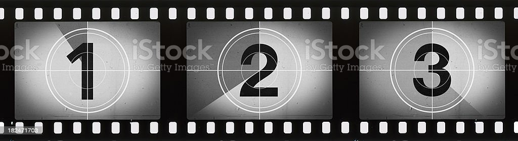 Grainy Film Frames Countdown stock photo