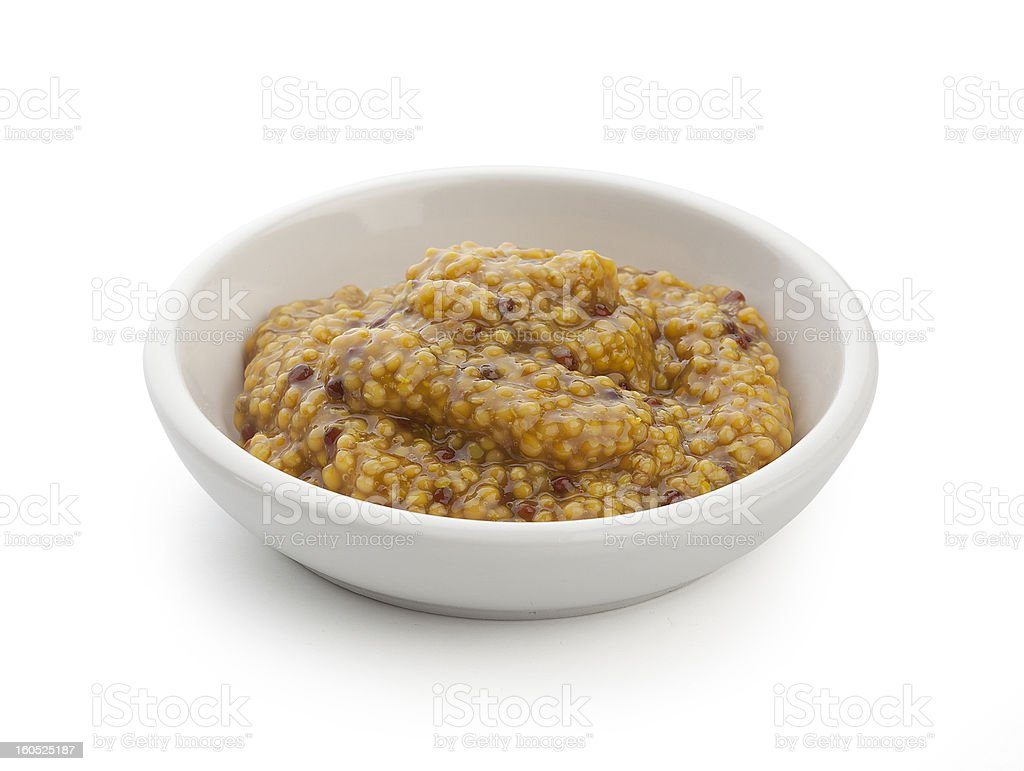 Grainy mustard royalty-free stock photo