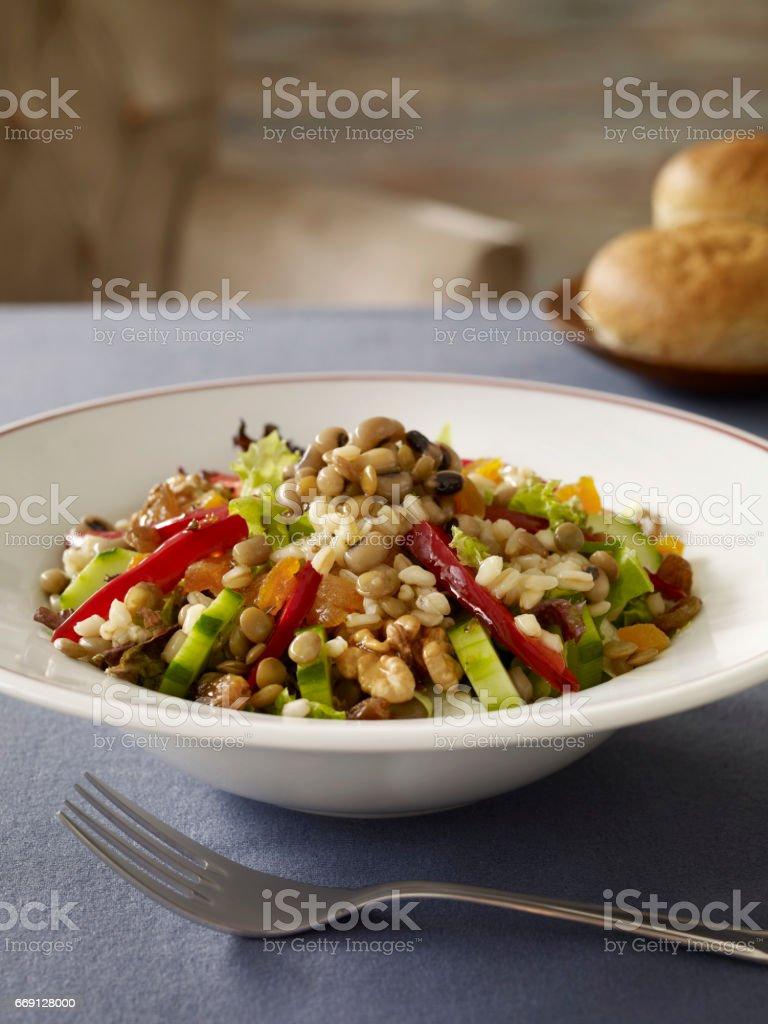 grainy salad stock photo