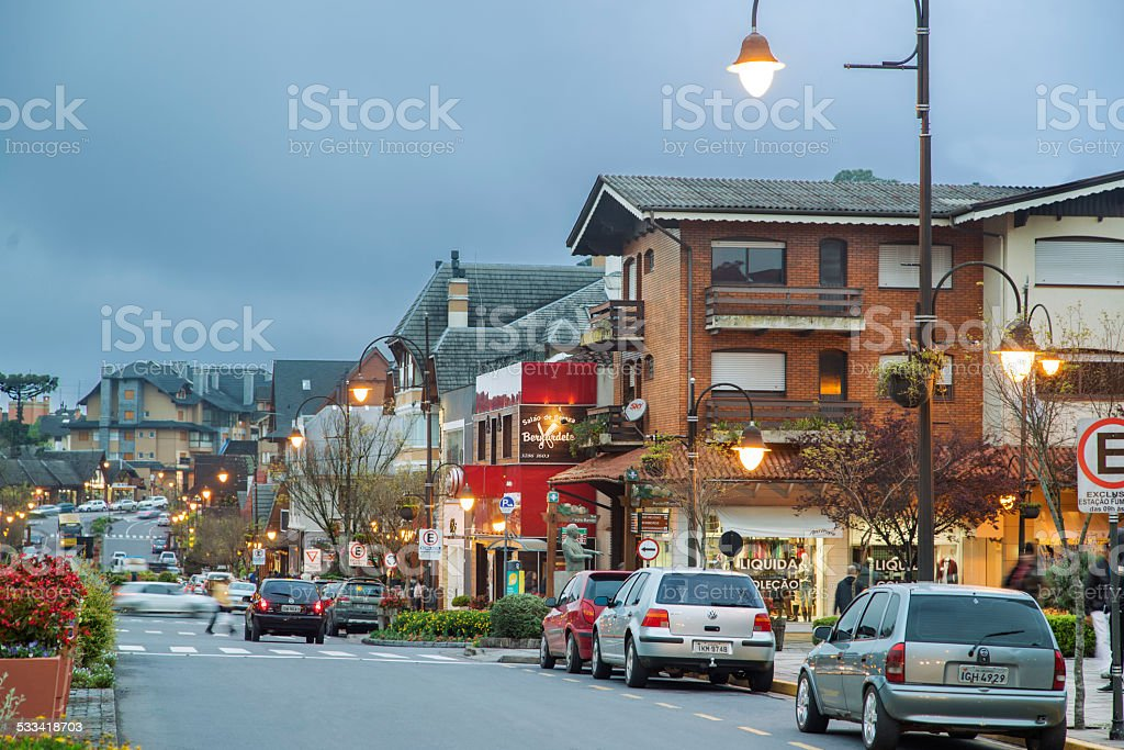 Gramado, south of Brazil stock photo