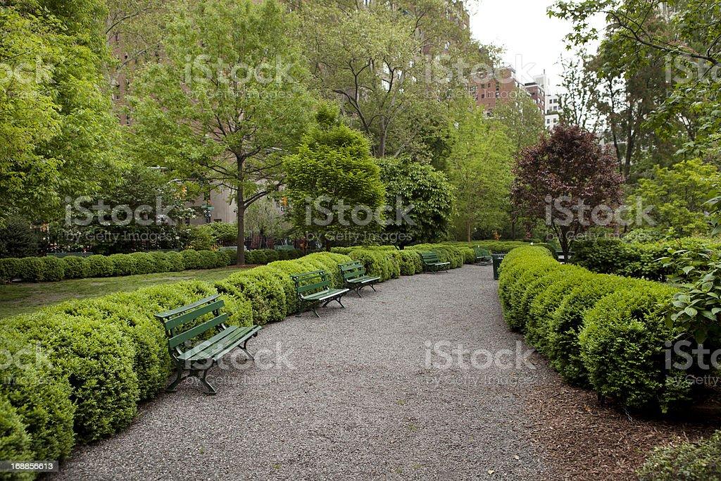 Gramercy Park in New York City stock photo