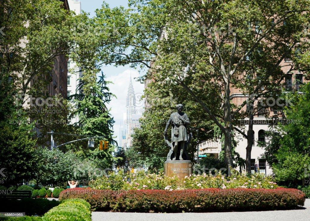 Gramercy Park Manhattan stock photo
