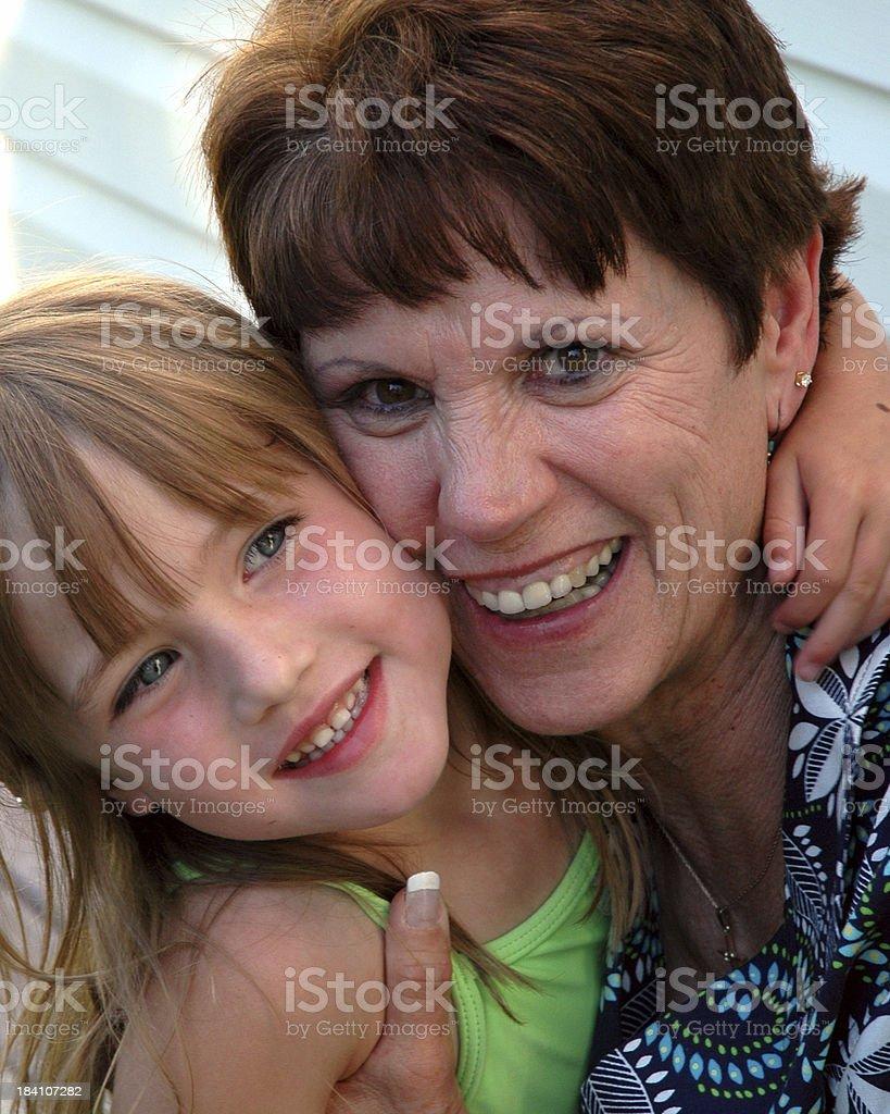 Grammas Girl royalty-free stock photo