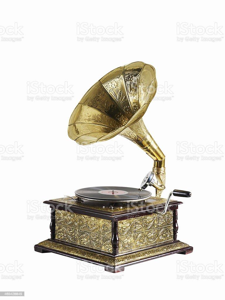 Gramophone -Isolated stock photo