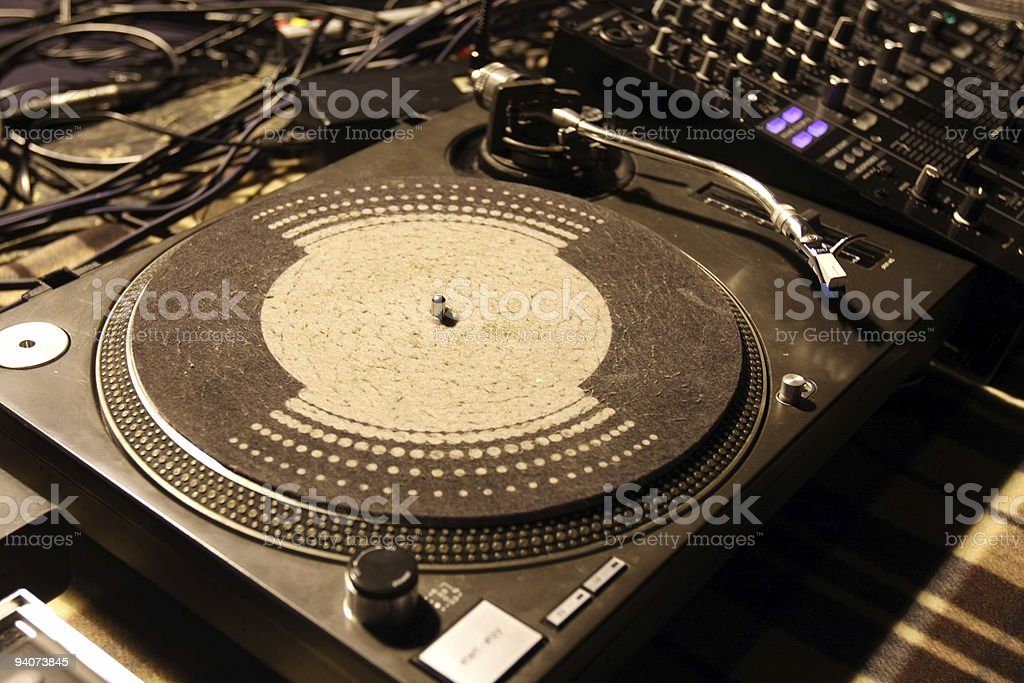 Gramophone ,Mixing royalty-free stock photo