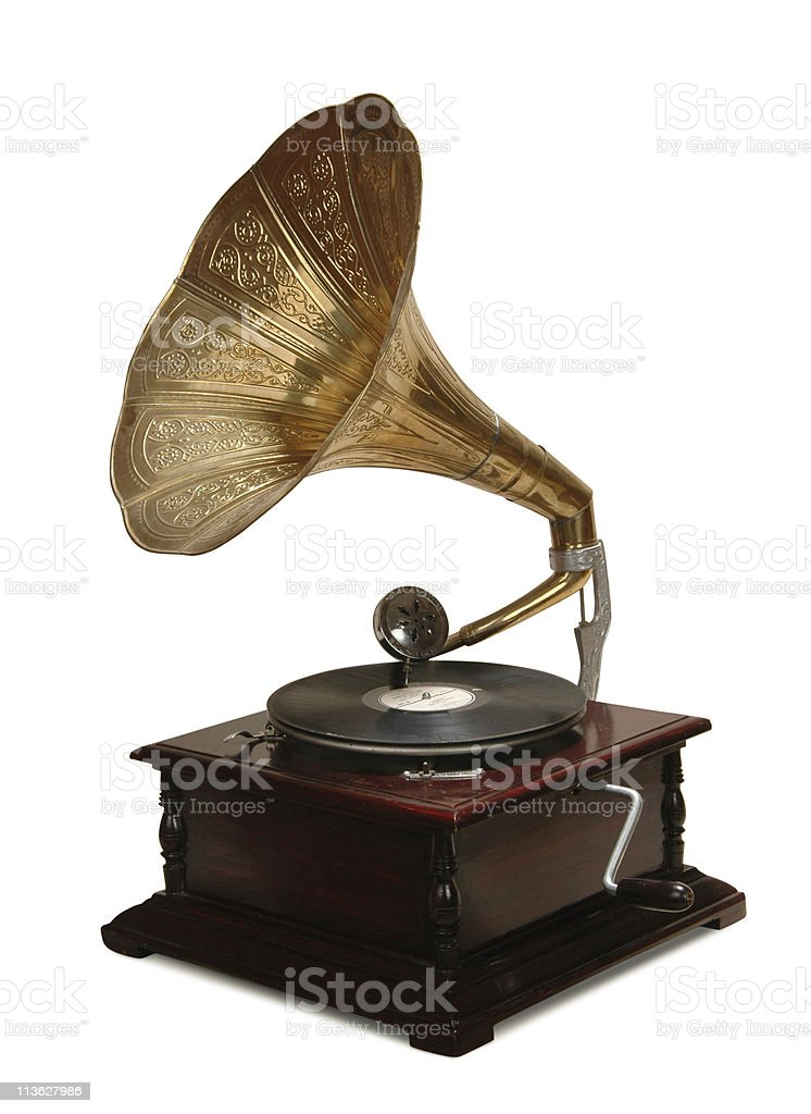 gramophone royalty-free stock photo