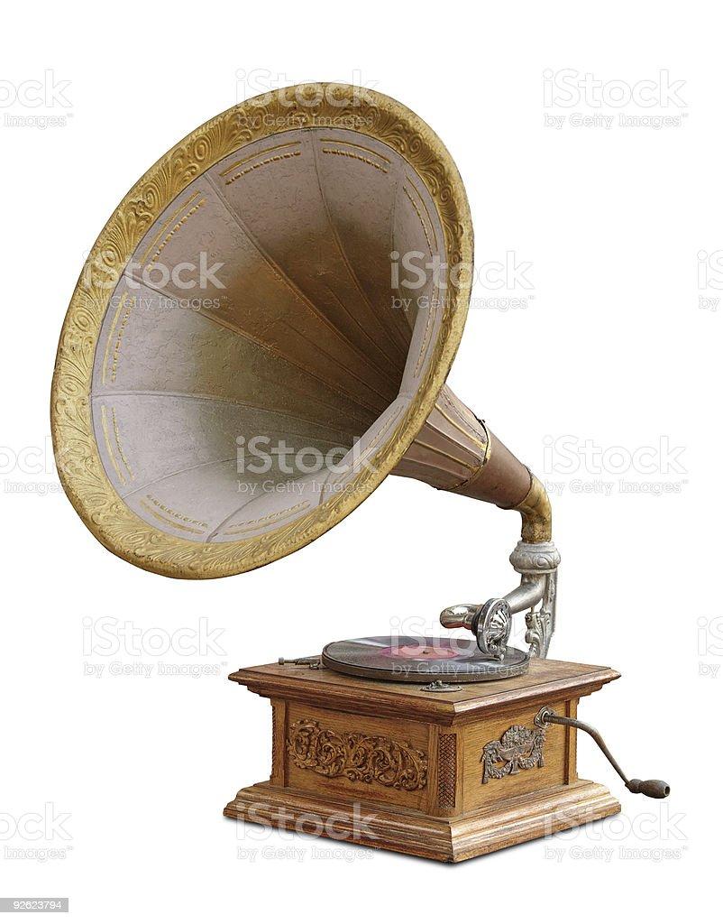 gramophone royalty-free stock photo