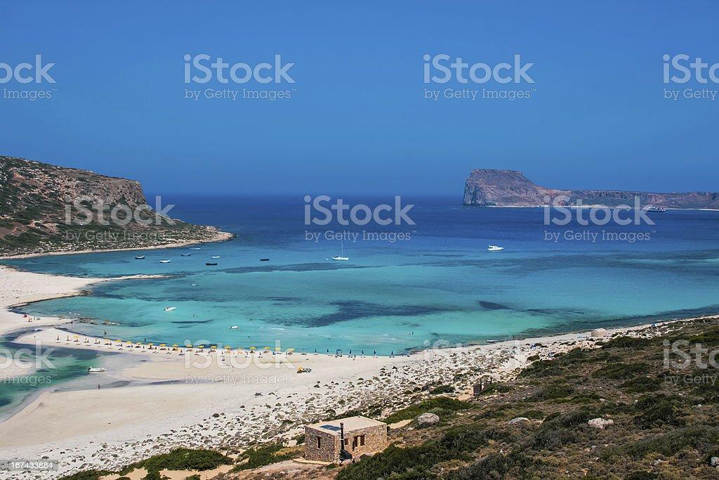 Gramvousa island and Balos Lagoon on Crete royalty-free stock photo
