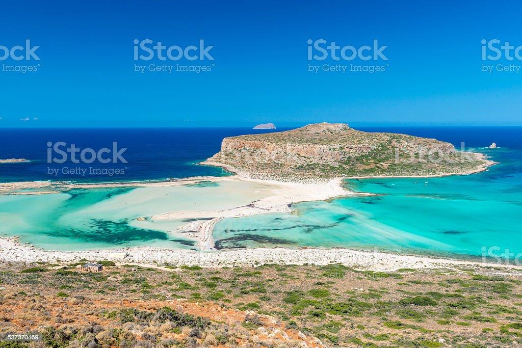 Gramvousa Island And The Balos Lagoon stock photo