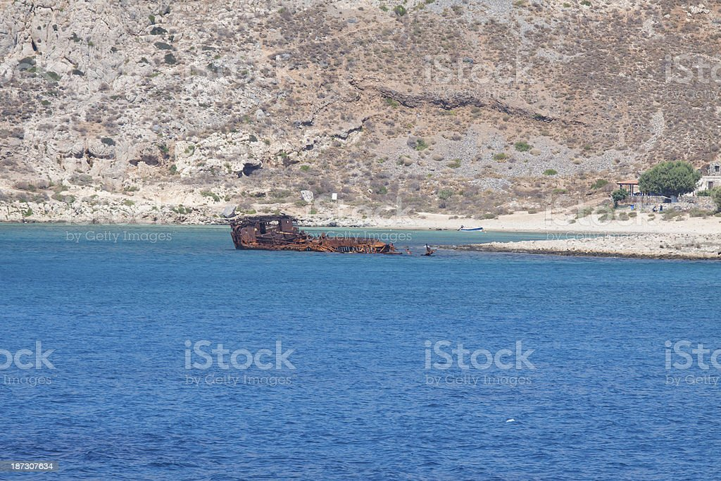 Gramvousa Island ship wreck, Crete in Greece. royalty-free stock photo
