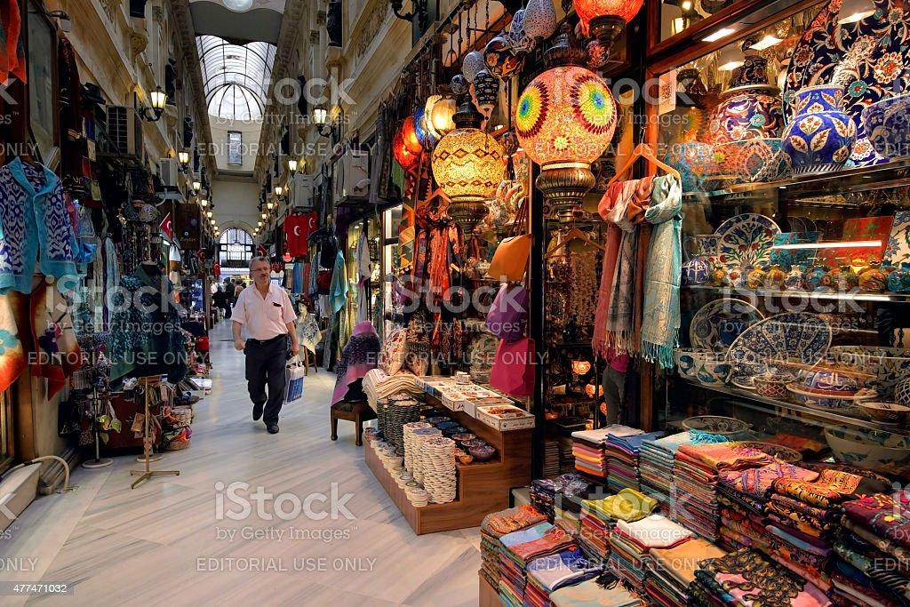 Gran Bazaar, Istanbul, Turkey. stock photo