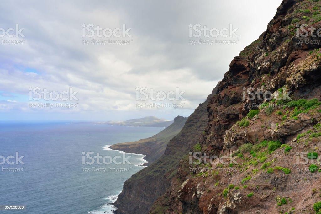 Gran Canaria landscape stock photo