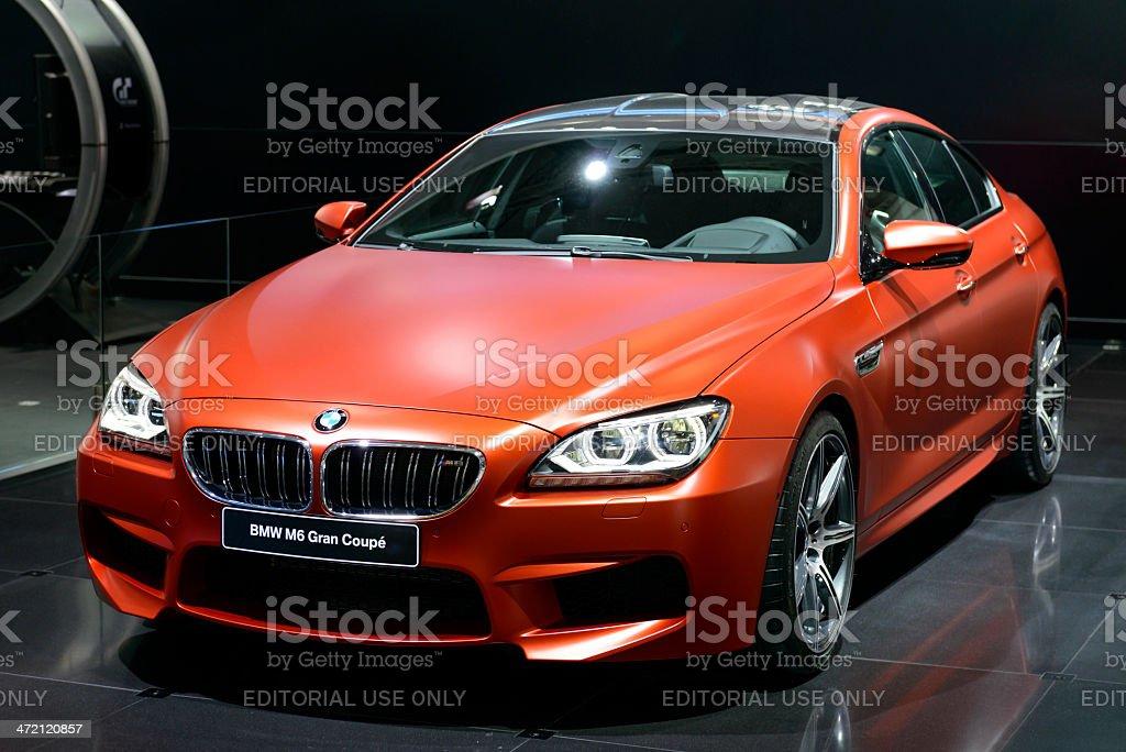 BMW M6 Gran Coupe stock photo