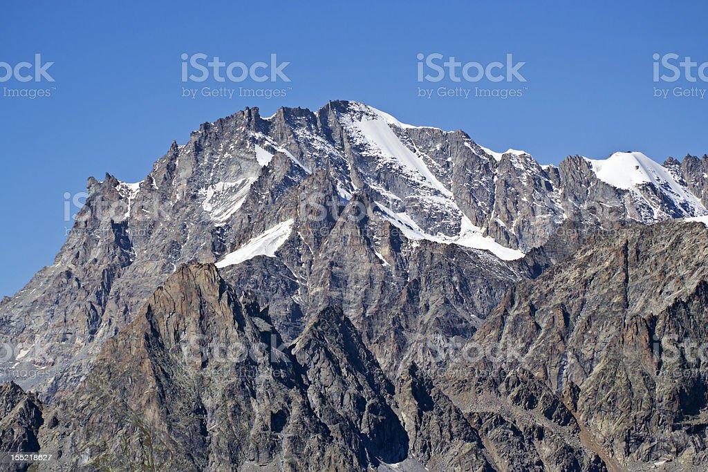 Gran Paradiso (4061mt) Italy royalty-free stock photo