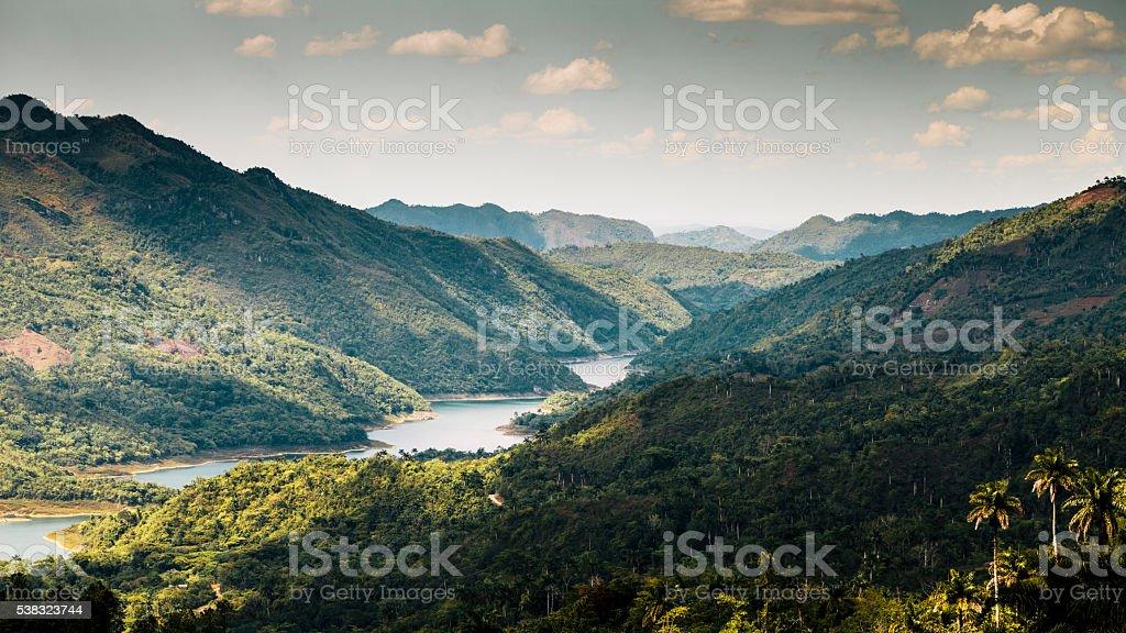 Gran Parque Natural Topes De Collantes, Cuba stock photo