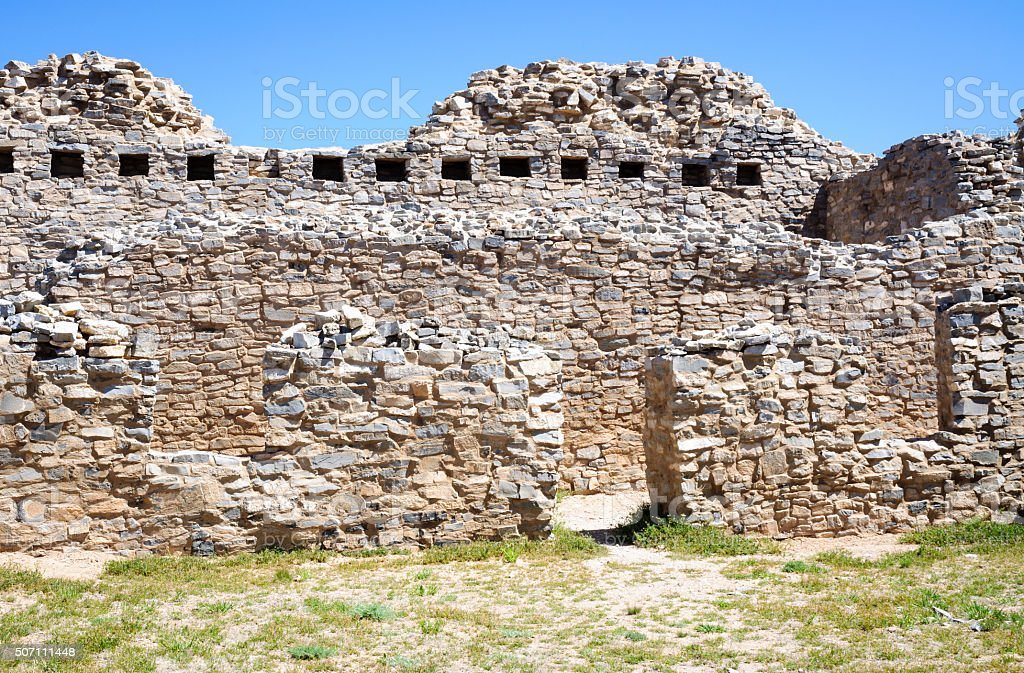 Gran Quivira Ruins  at Salinas Pueblo Missions National Monument stock photo
