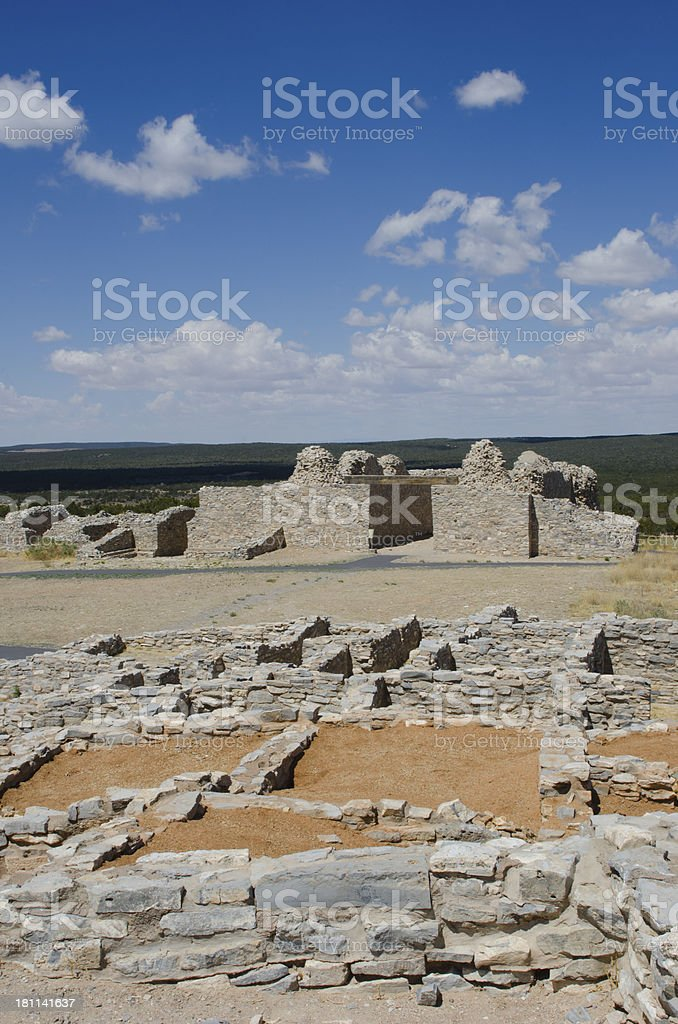 Gran Quivira Ruins of Salinas Pueblo Missions National Mon stock photo