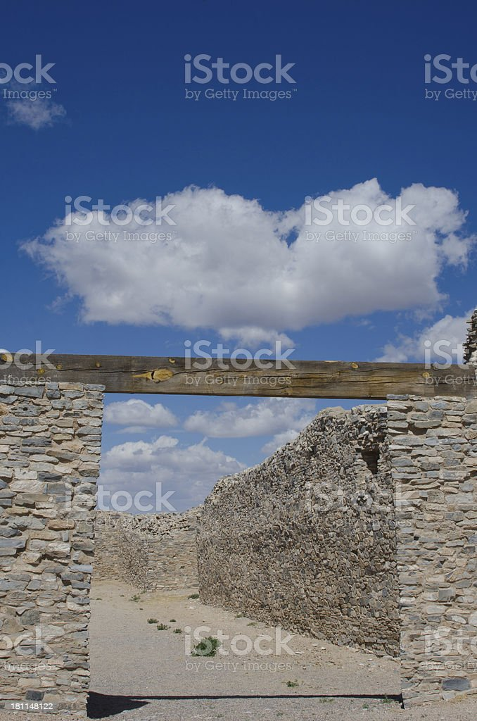 Gran Quivira Ruins of Salinas Pueblo Missions National Mon stock photo