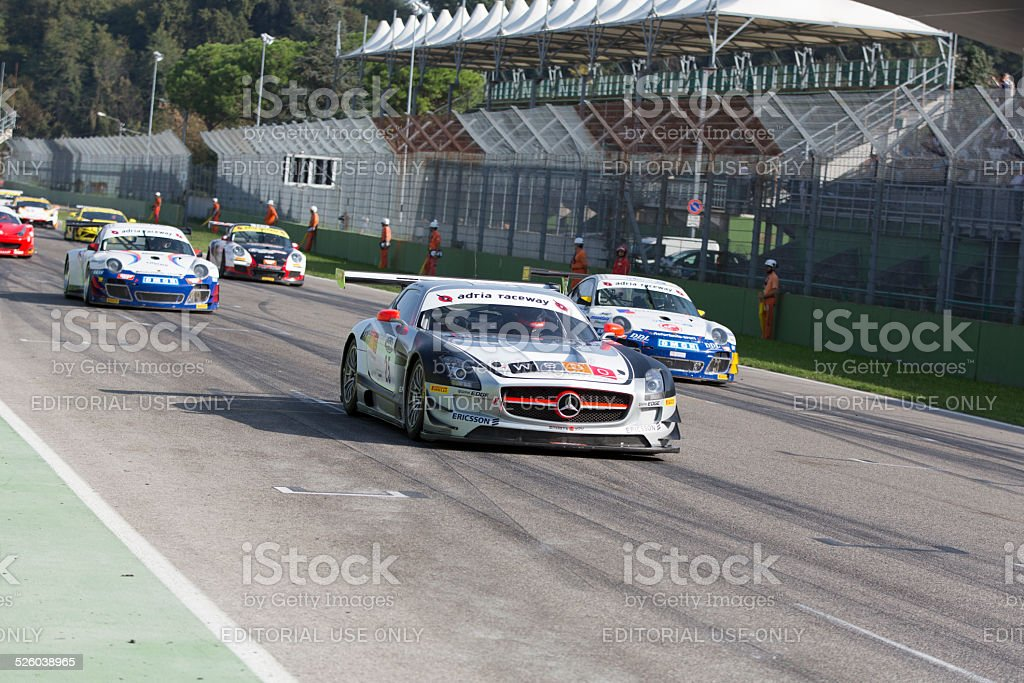 C.I. Gran Turismo car racing stock photo