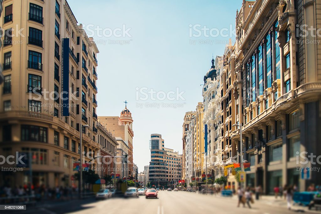 Gran Vía, Madrid stock photo