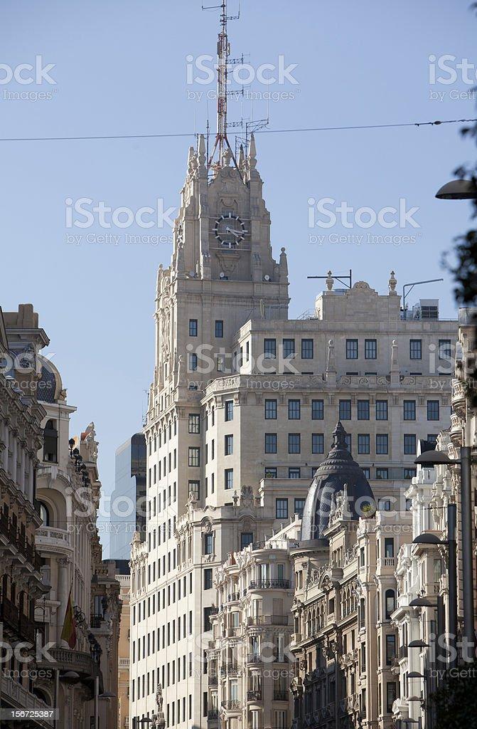 Gran Via, Madrid royalty-free stock photo