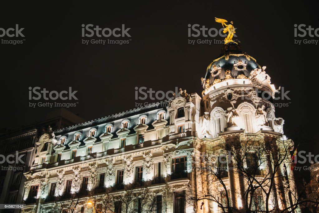 Gran Via, Madrid stock photo