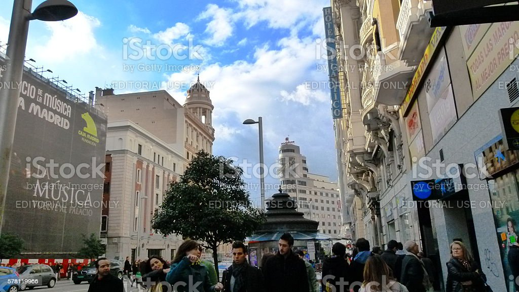 Gran Via stock photo