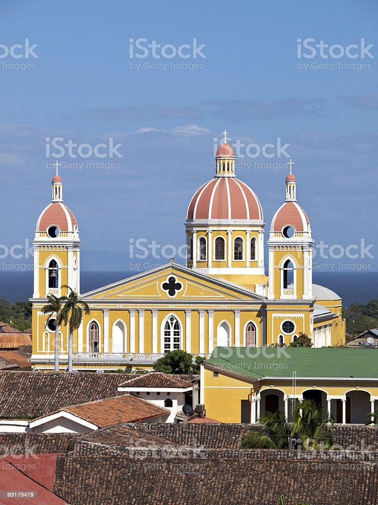 Granada Cathederal, Nicaragua royalty-free stock photo