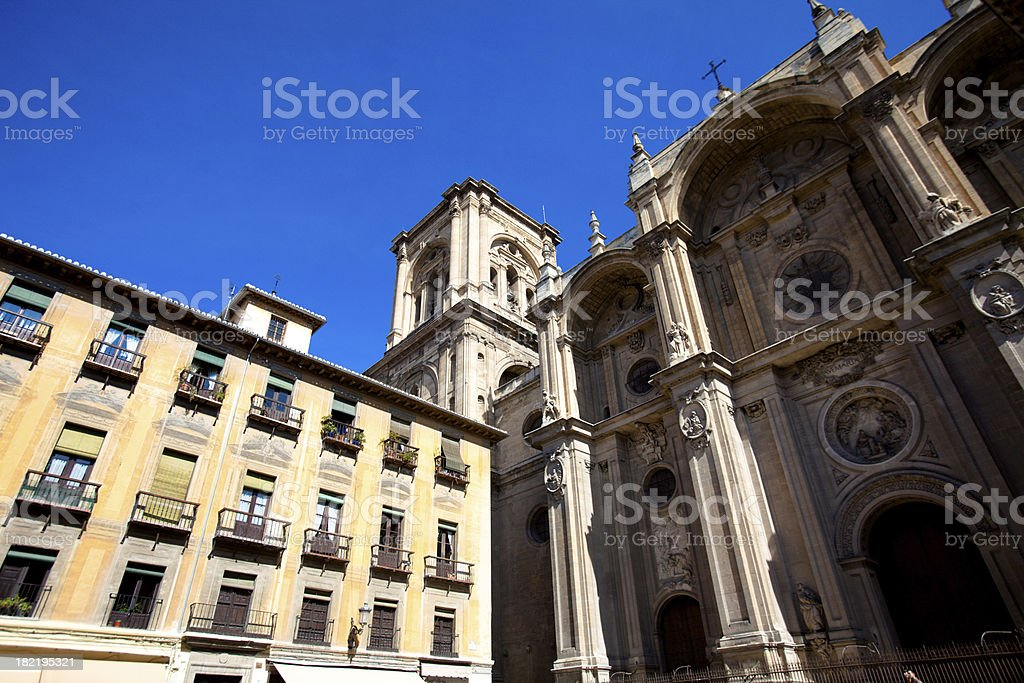 Granada Cathedral entrance royalty-free stock photo