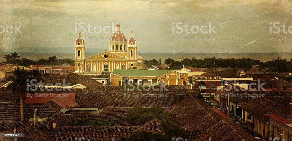 granada colonial town in nicaragua stock photo