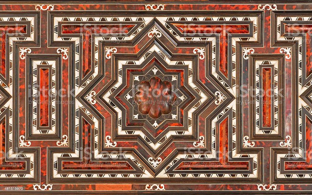 Granada - decoration of baroque furniture stock photo