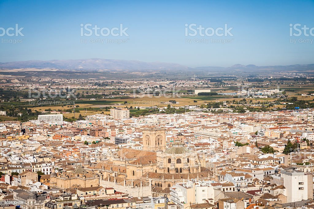 Granada panorama stock photo