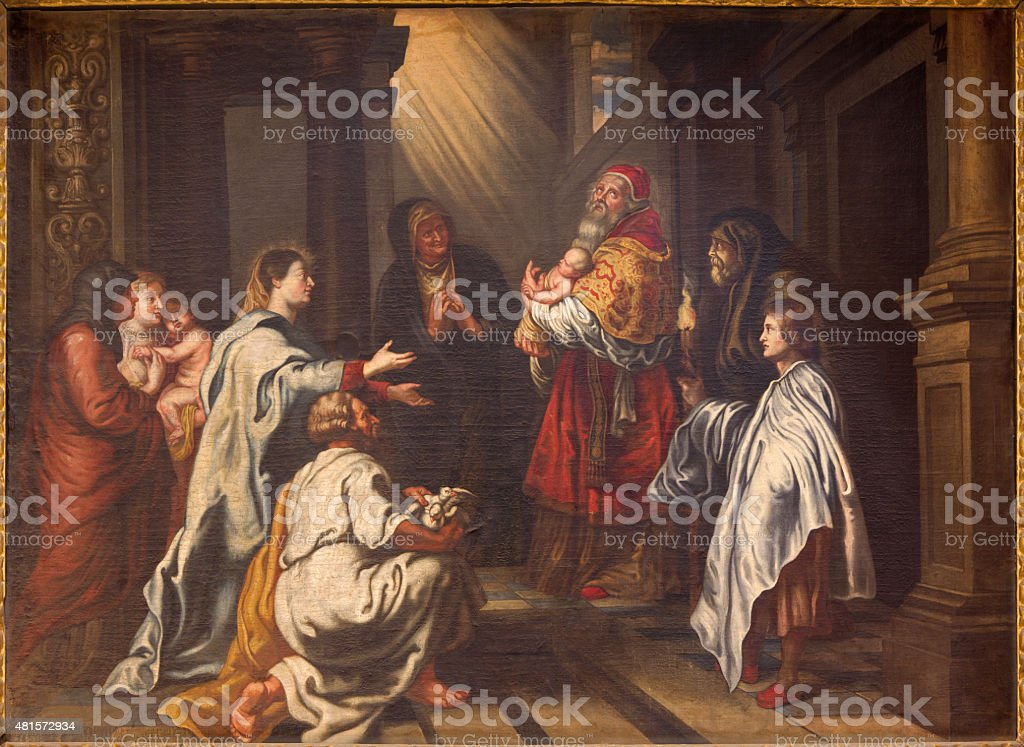 Granada - Presentation of Christ in the Temple painting stock photo