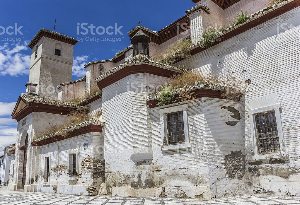 Granada San Nicolas church royalty-free stock photo