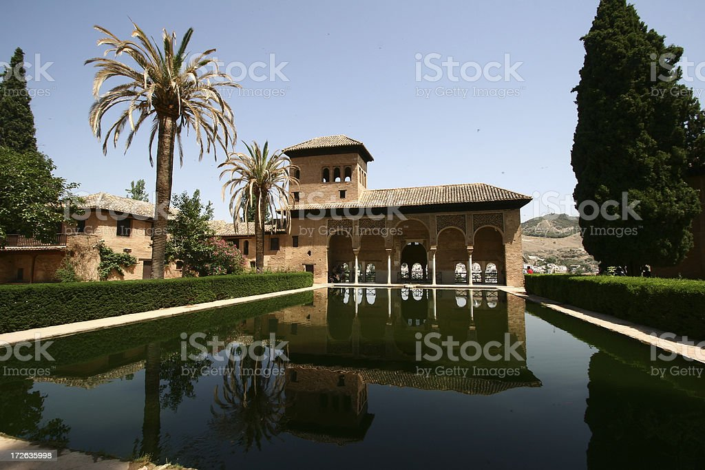 Granada, Spain Alhambra view #2 royalty-free stock photo