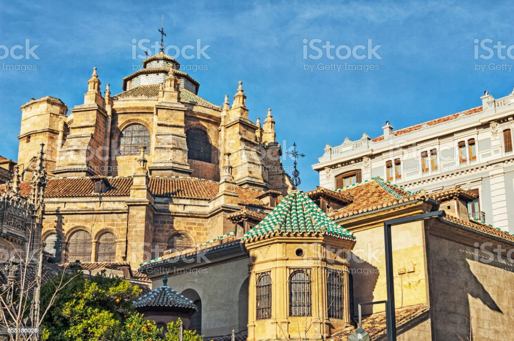 Granada Spain Architectural Features House of Worship stock photo