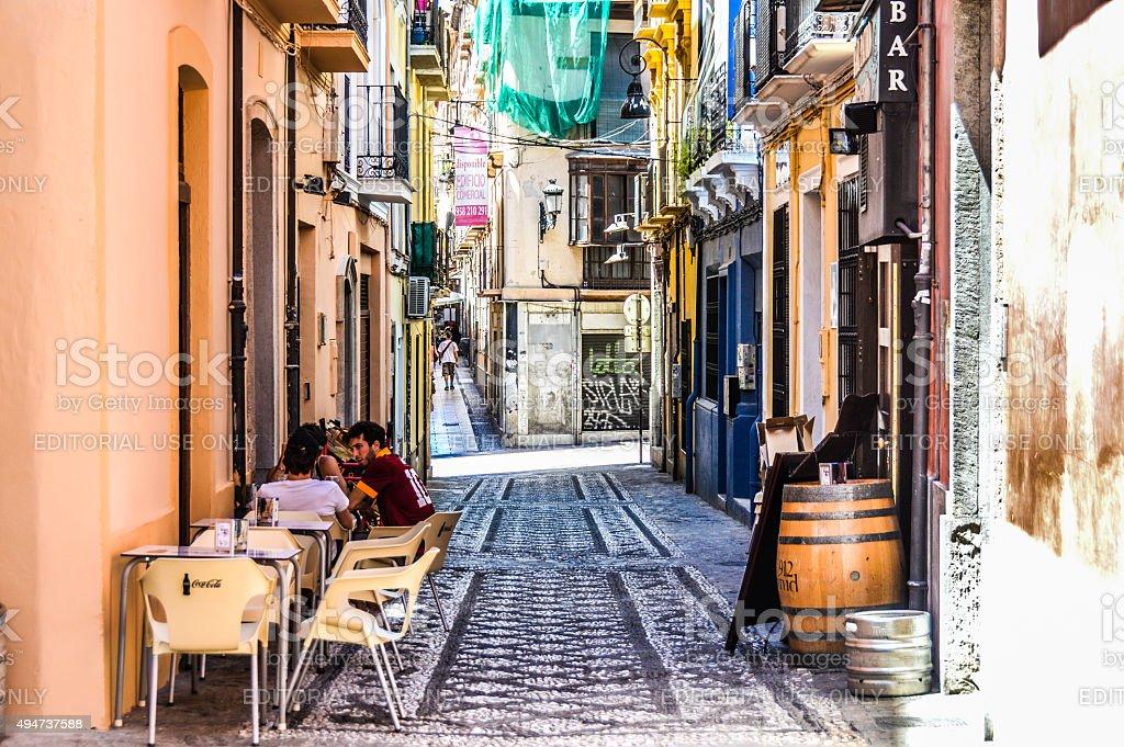 Granada, Spain - Medieval Street stock photo